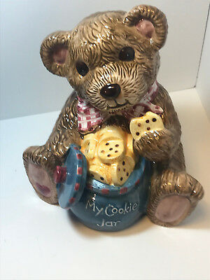 Vintage A Teddy Bear Cookie Jar Mid Century In Near Perfect Shape my guess 1950s