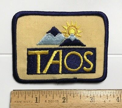 Taos Valley New Mexico NM Skiing Ski Resort Area Sun Mountains Embroidered Patch