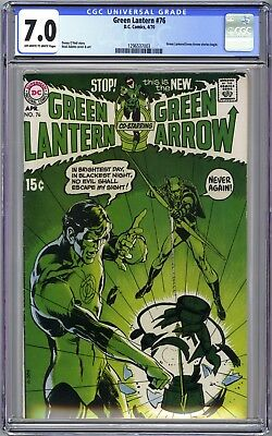 Green Lantern #76 - Cgc 7.0 Ow/wp Fn/vf - Neal Adams