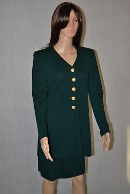 St John Collection/Sportswear Long Green Cardigan s Skirt 8 Suit By Marie Gray