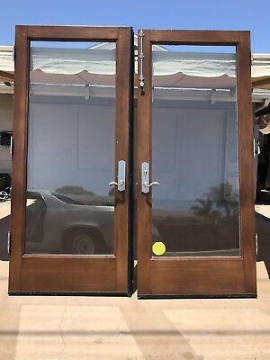 Beautiful exterior French wood glass doors 84 1/2 X 31 3/4
