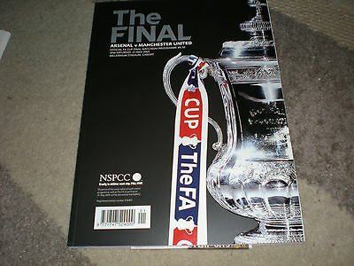 2 F.A.CUP FINAL PROGS- '05 & '07: ARSENAL & CHELSEA v MAN/MANCHESTER UNITED/UTD