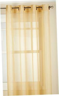 "NEW Lorraine Home Fashions Reverie Window Curtain Panel (1) - 60 x 84"", Gold"