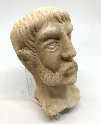 Carved Marble Head Fragment Looks Roman Well