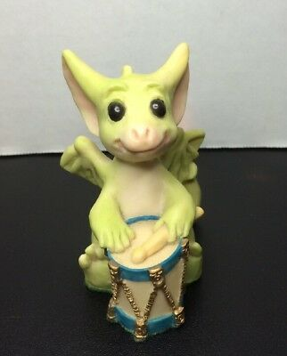 "Whimsical World Of Pocket Dragons ""A Different Drummer"" 1992 Made In UK Retired"