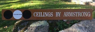Vintage Large CEILINGS BY ARMSTRONG Business Store Tin Advertising Sign 72x9