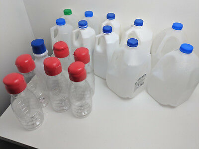 17 Empty Plastic Bottles/Containers Various sizes for Crafting