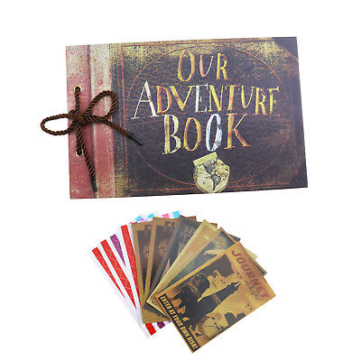 Our Adventure Travel  Book Memory DIY Anniversary Scrapbook Photo Album 80 Pages
