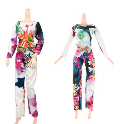 2Pcs/Set Fashion Doll Clothes Suit For  Doll Party Clothes Accessories JF