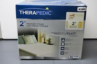 therapedic 2 inch memory foam mattress topper THERAPEDIC 2 INCH KING Memory Foam Mattress Topper C1400K NICE  therapedic 2 inch memory foam mattress topper