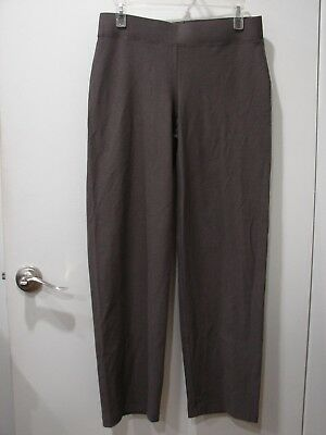 NWT EILEEN FISHER Cobblestone Washable Stretch Crepe Straight Leg Pant SZ PS
