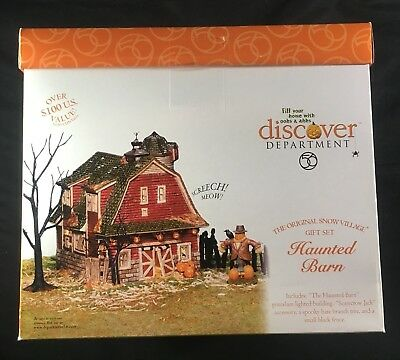 DEPARTMENT 56 Snow Village HALLOWEEN Haunted Barn 56.55060 New In Box