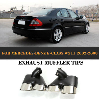 Stainless Steel Exhaust Tips Muffler Tail Pipes Fit for Mercedes Benz W211 02-08