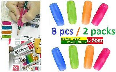 .One pack 4 pcs Kids pencil holding helper grip Hand writing Correction Aid AU