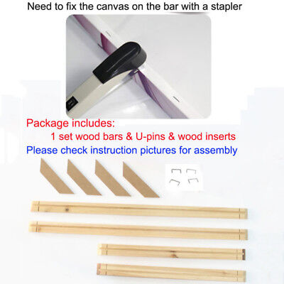 Wood Bar For Painting Stretcher Strip 20/25/30/35/40/45/50cm Assembly Durable