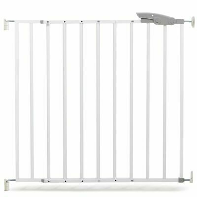 A3 Baby & Kids Safety Gate Oslo 73-107cm Metal White Pet Barrier Fence 64633