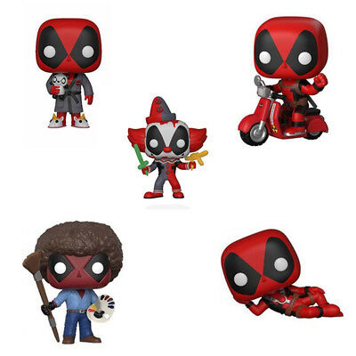 Funko pop Playtime Deadpool as Bob Ross Action Figure Collection Toy Gift No Box