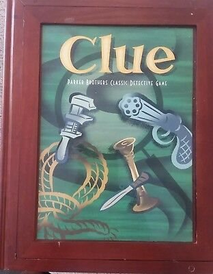 CLUE Vintage Edition Bookshelf Game Wood Box Parker Brothers
