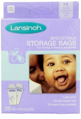 NIP Lansinoh Breastmilk Storage Bags 25 each Package