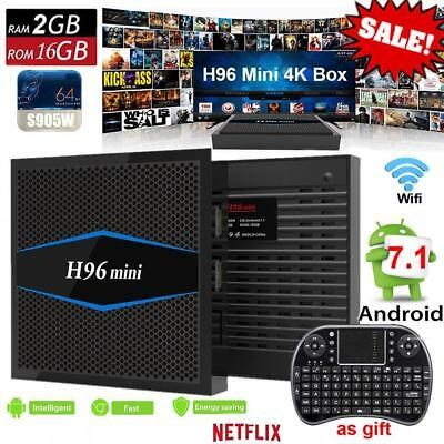 H96 Amlogic Mini S905W Android 7.1 TV caja 2 GB 16GBM WiFi HDMI 4Kx2K Media Play