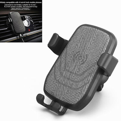 1X Car Air Vent Mount Fast Qi Wireless Charger For iPhone X 8 Plus Samsung Note8
