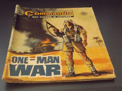 Commando War Comic Number 598!,1971 Issue,v Good For Age,47 Years Old,v Rare.