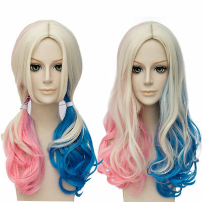 Harley Quinn Wig Accessories Suicide Squad Halloween Costume Cosplay Anime Hair