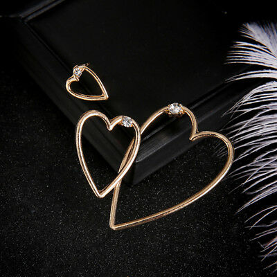 Charming Three Multi Size Love Heart Shape Earrings Modern Styles Chic Gifts one