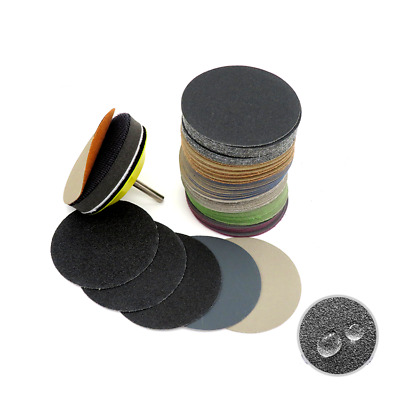 3'' 75mm Wet or Dry Sanding Disc Hook & Loop Sandpaper Sander Pad 60-10000 Grit