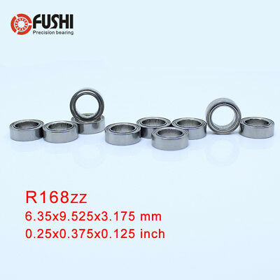 "10pcs R168ZZ 1//4/""x3//8/""x1//8/"" ABEC3 Thin-wall Deep Groove Ball Bearing"