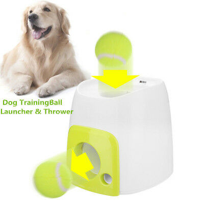 LAUNCHES BALLOON TENNIS DOG GAME LAUNCHER BALL PARK DOG PLAY Pet Training Tennis