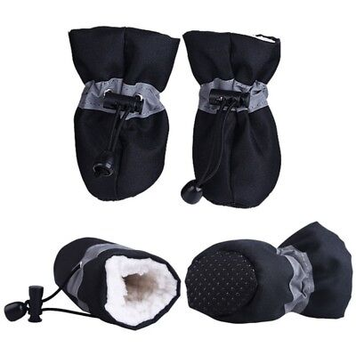 US Winter Small Dog Anti-Slip Rain Boots Puppy Shoes Pet Protective Sock Booties