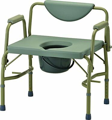 NOVA Medical Products Heavy Duty Commode with Drop-Arm, Grey, 22 Pound TAXFREE