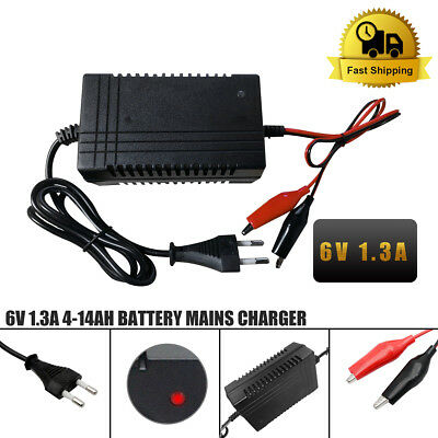 AC adapter Power supply charger AC DC 240V 6V 1,3A 1300mA 15.6W 110 * 65 * 45mm