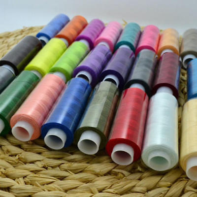24pcs Mixed Colors Polyester Spool Sewing Thread For Machine High Quality Set