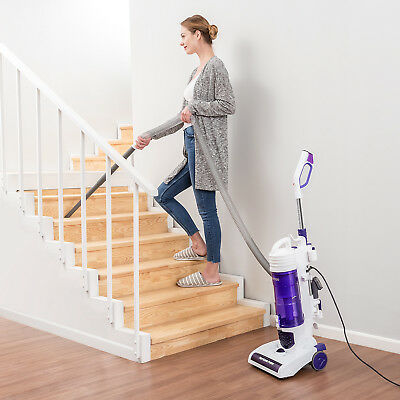 PUPPYOO S7 Bagless Upright Vacuum Cleaner Cyclonic Lightweight Carpet 1400W 2.9L