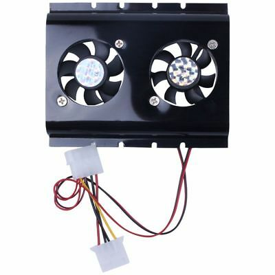2X(Black 3.5 SATA IDE Hard Disk Drive HDD 2 Fan Cooler for PC A5F6)