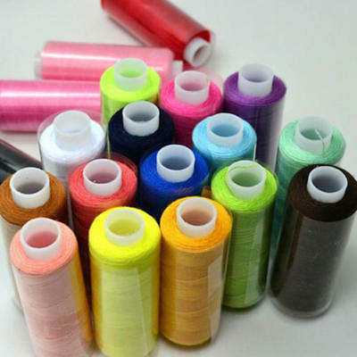24pcs Mixed Colors Polyester Spool Sewing Thread For Sewing Machine Home Shop