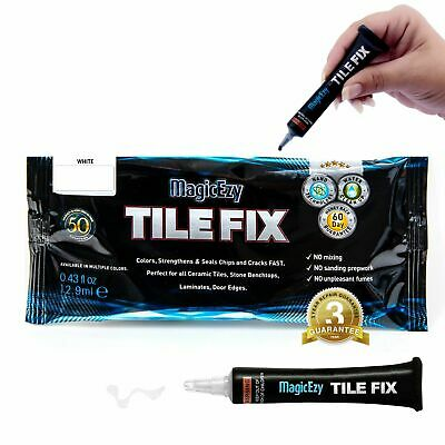 Appliance Touch Up Repair for Damaged Whitegoods : MagicEzy Tile Fix (White)
