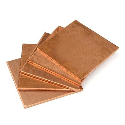 5pcs 20×20×1.2mm Heat Sink Copper Shim Cooling Plate Thermal Pads