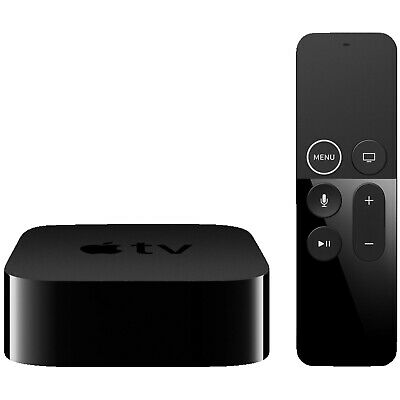 APPLE TV 4K MP7P2FD/A Multimediaplayer, Schwarz, 64 GB