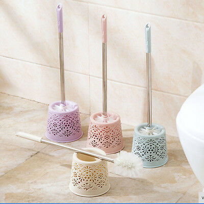 Stainless Steel Bathroom Toilet Brushes Holder Sets Home Hotel Cleaning Tool JS