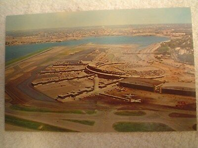 Aerial Photo Postcard,  La Guardia Airport, Lga,  From 1960's, No Jets / Jetways