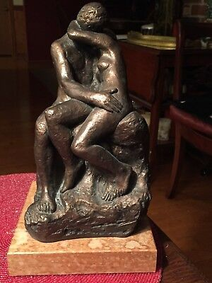 """""""The Kiss"""" SCULPTURE - Nude Couple Lovers - Auguste Rodin (Austin Productions)"""