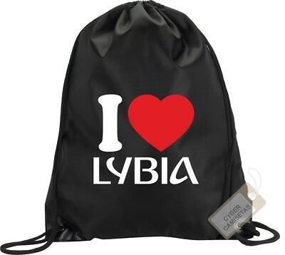 I Love Libia Mochila Bolsa Saco Gimnasio Backpack Bag Gym Lybia Sport