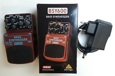 Behringer BSY600 Stereo Bass Synthesizer pedal + 9V EU POWER ADAPTER