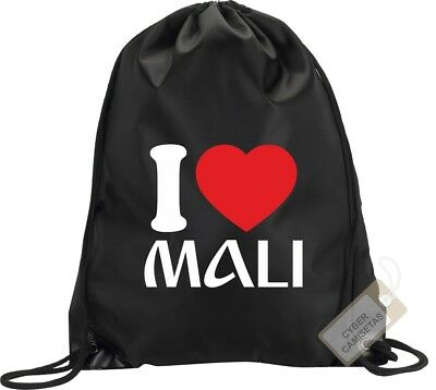 I Love Mali Mochila Bolsa Saco Gimnasio Backpack Bag Gym Mali Sport