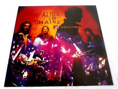 Alice In Chains MTV Unplugged 1996 VERY RARE poster promo flat 12x12 not Cd LP