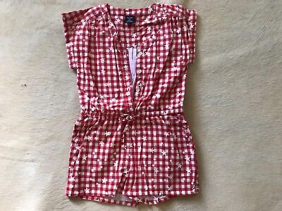 Girls Gap Red And White Stars Checkered Play Suit Baby 4 years 100% Cotton 104cm