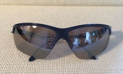 Pre Owned Adidas Adivista L A164 6092 Rectangular Sunglasses Blue Print & White